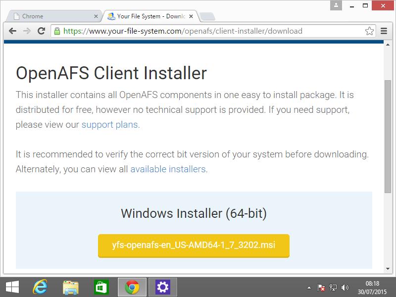 AFS for Windows | Documentation
